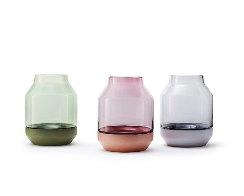 Muuto - Elevated Vase - grey - groen - 2