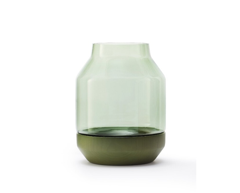 Muuto - Elevated Vase - grey - groen - 1