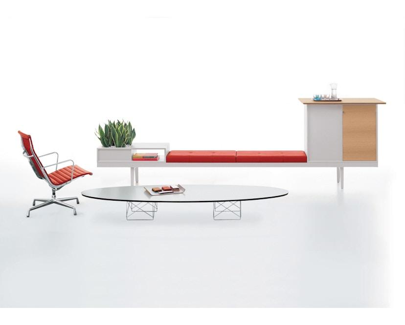 Vitra - Elliptical Table ETR - Gestell verchromt - weiß - 2