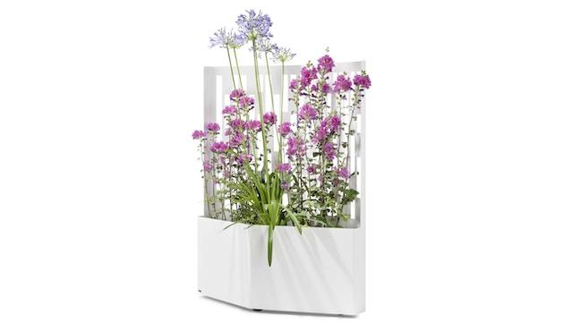 Flora - Elmas 120 Pflanzengefäß - Weiß  - 2