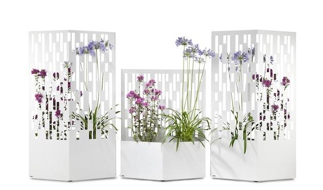 Flora - Elmas 120 Pflanzengefäß - Weiß  - 3