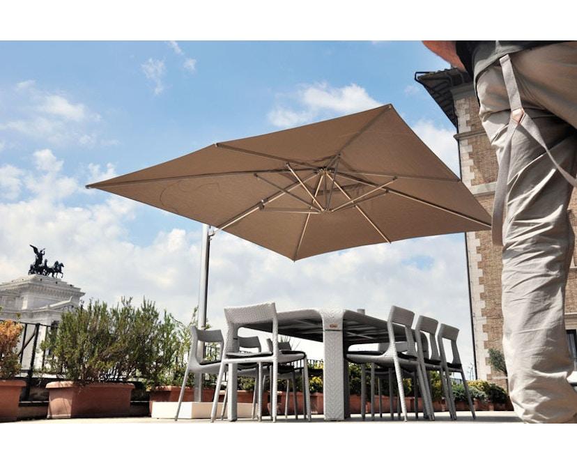 Emu - Shade Sonnenschirm mit Seitenmast - klein - taupe - 6
