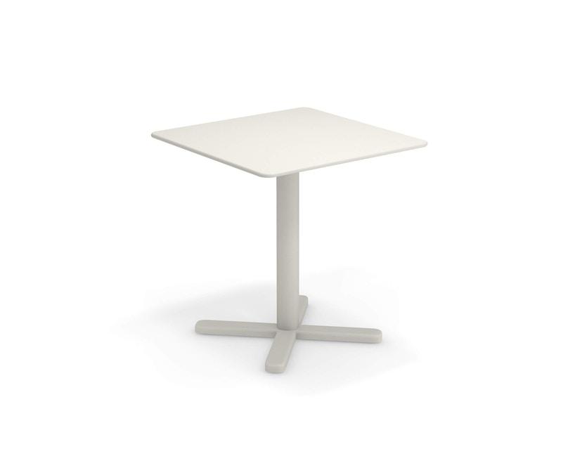 Emu - Darwin Tisch quadratisch - mattweiß - 70x70 - 1