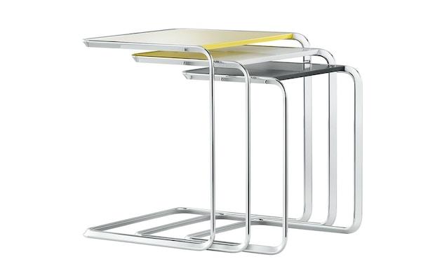 Tecta - K3 Oblique Satztisch mit PTFE- Gleitern - decklackiert weiß - 2