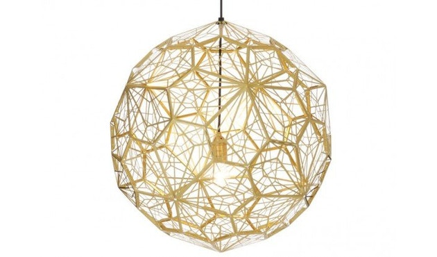 Tom Dixon - Etch Web hanglamp - messing - 3