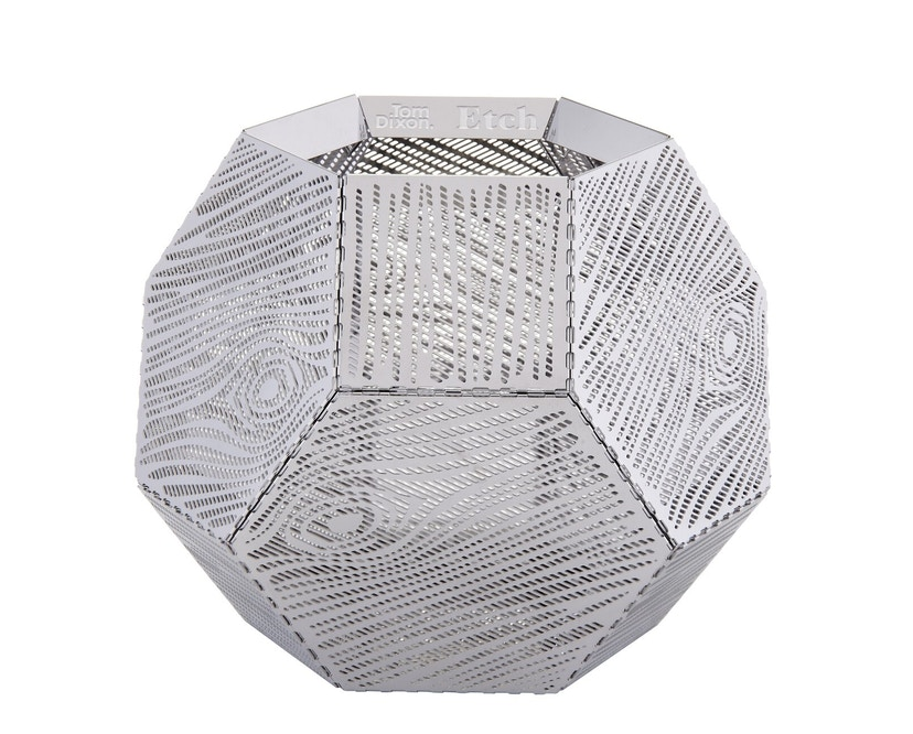 Tom Dixon - Etch windlicht - Gatpatroon - zilver - 1