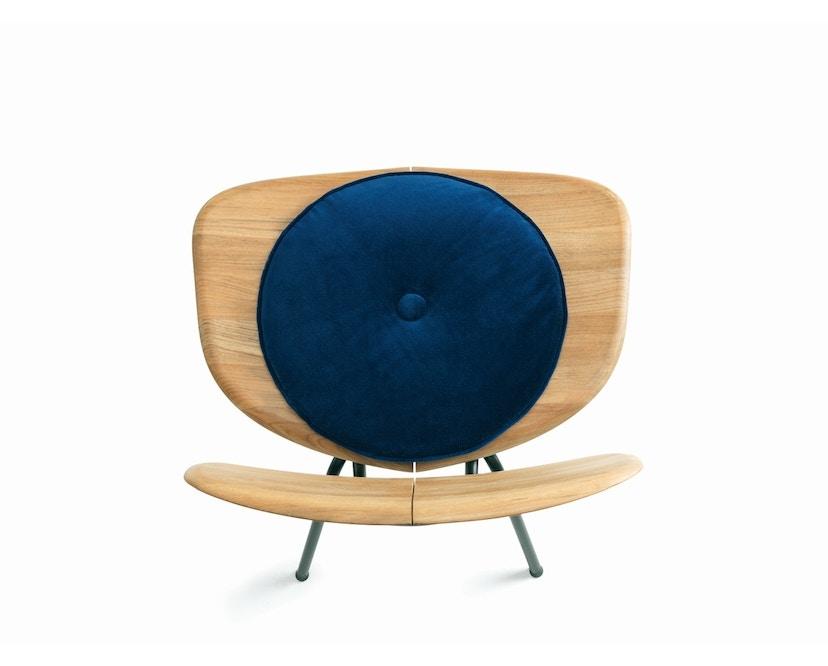 Ethimo - Agave Sitzkissen rund - velvet blue - 1