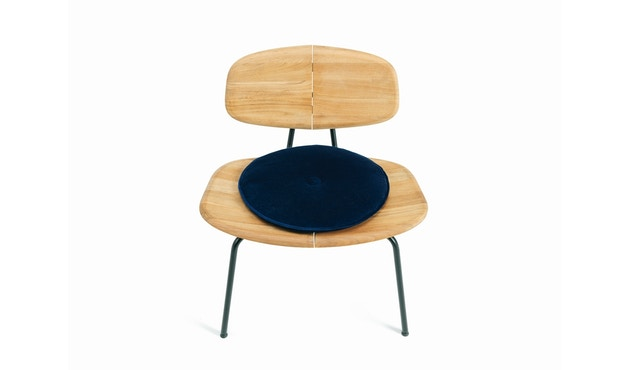 Ethimo - Agave Sitzkissen rund - velvet blue - 0