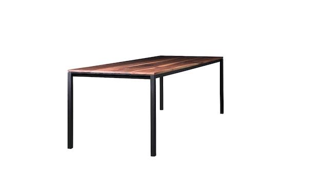 Janua - S 600 Tisch - Stefan Knopp - Eiche geköhlt (Ton schwarz) - Gestell Tiefschwarz - 80x80 - 1