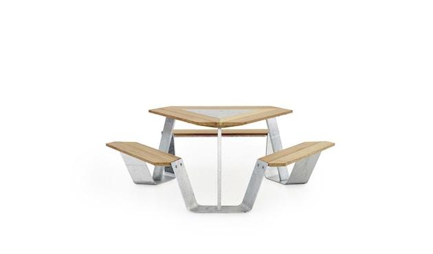 extremis - Anker Tisch feuerverzinkt - Iroko hardwood - weiße pulverbeschichtete Mittelplatte - 3