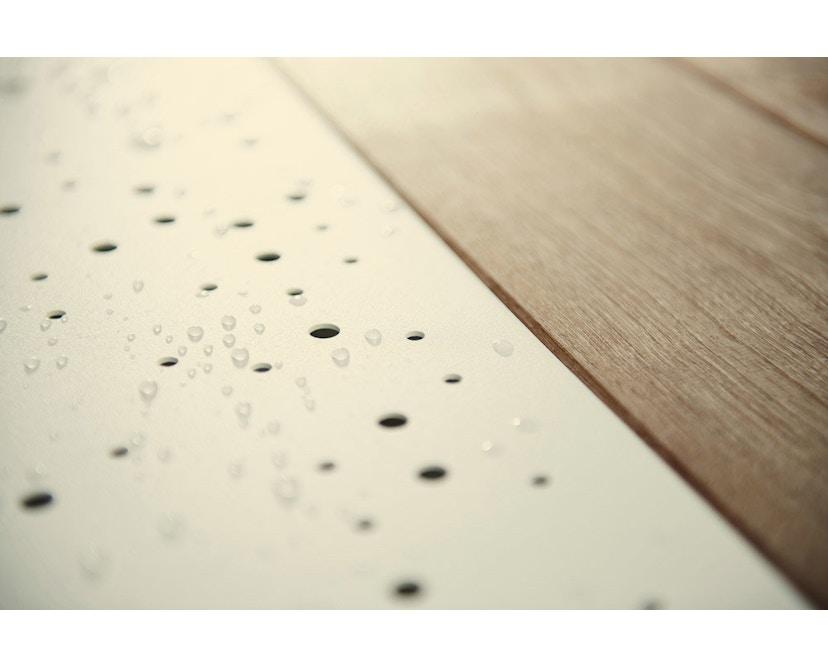 extremis - Anker Tisch feuerverzinkt - Iroko hardwood - weiße pulverbeschichtete Mittelplatte - 5