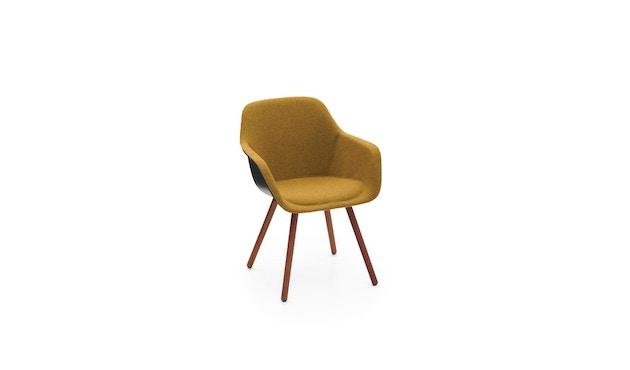 extremis - Captain's Chair weiß, gepolstert, Stahlrahmen - senfgelb - 0