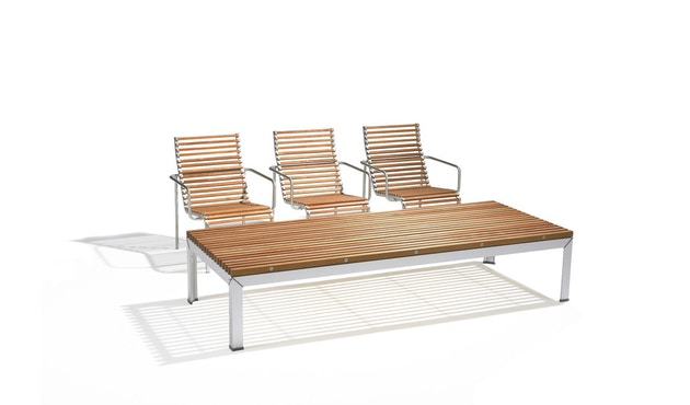 extremis - Extempore Gartentisch niedrig, quadratisch 75cm - Jatoba hardwood - 1