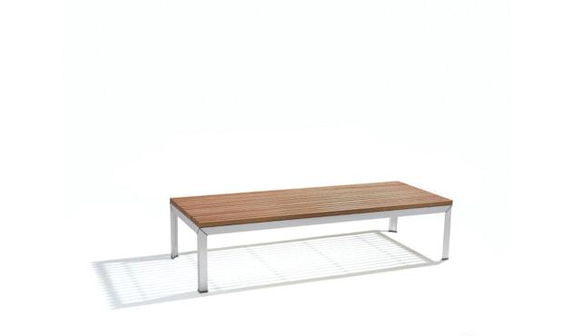 extremis - Extempore Gartentisch niedrig, quadratisch 75cm - Jatoba hardwood - 0
