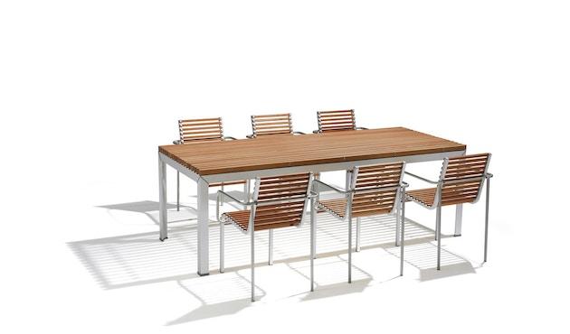 extremis - Extempore Standard Gartentisch quadratisch, 75cm - Jatoba hardwood - 2