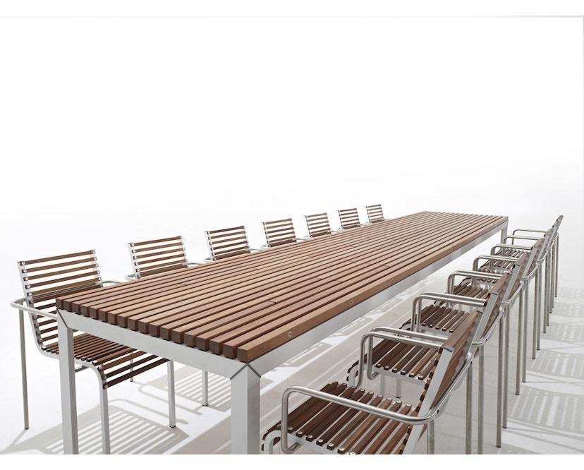 extremis - Extempore Standard Gartentisch quadratisch, 75cm - Jatoba hardwood - 4