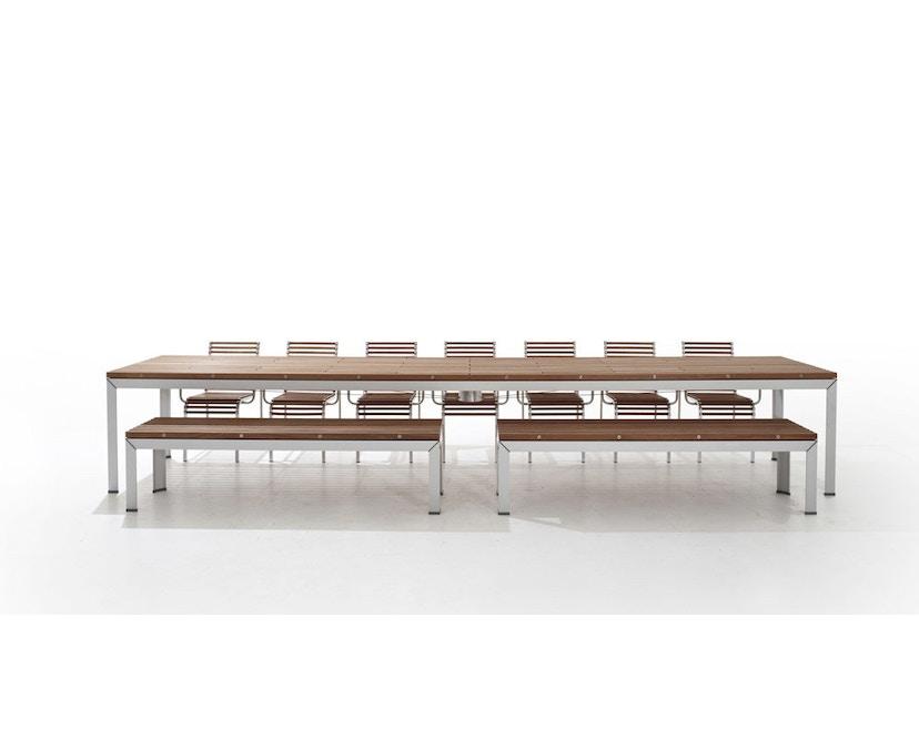 extremis - Extempore Standard Gartentisch quadratisch, 75cm - Jatoba hardwood - 1