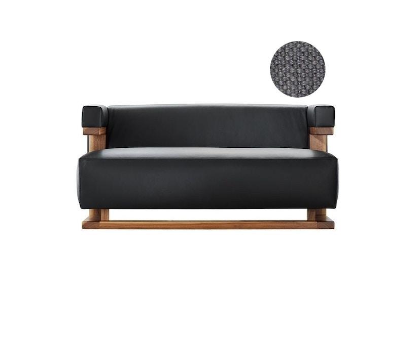 Tecta - F51-2 Gropius-2-Sitzer-Sofa - Gestell Esche natur - Colin dunkelgrau - Stoff dunkelgrau 191 - 1