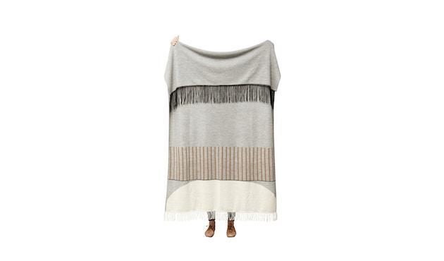 Aymara Decke - gemustert Grau - 130 x 190 cm