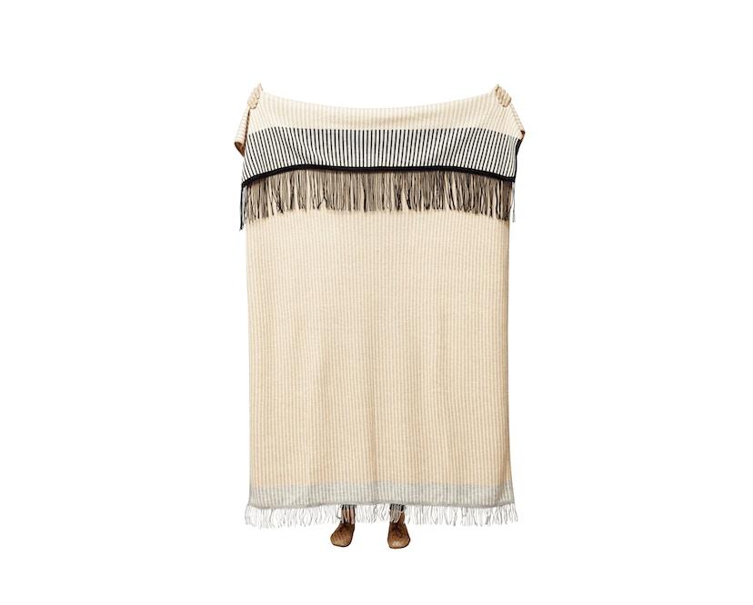 Aymara Decke - gemustert mit Streifen - 130 x 190 cm