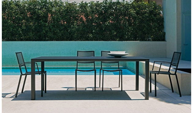 Fast - Easy Tisch - 100 x 220 cm - grau-metallic - 7