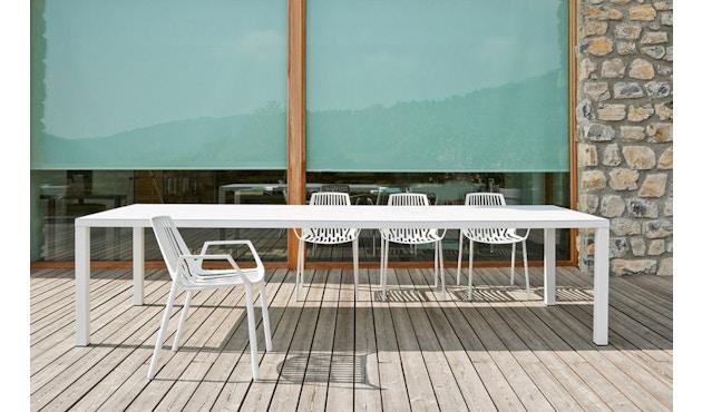 Fast - Easy tafel - 100 - 100 x 220 cm - wit - 4