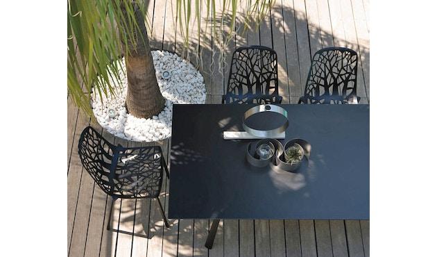 Fast - Radice Quadra tafel - vierkant - grijs-metallic - 90 x 90 cm - 9