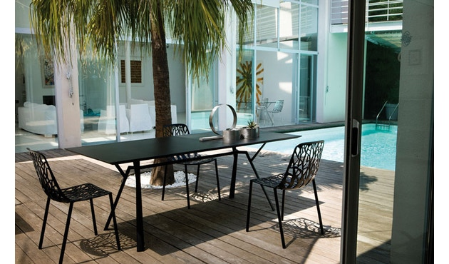 Fast - Radice Quadra tafel - vierkant - grijs-metallic - 90 x 90 cm - 10
