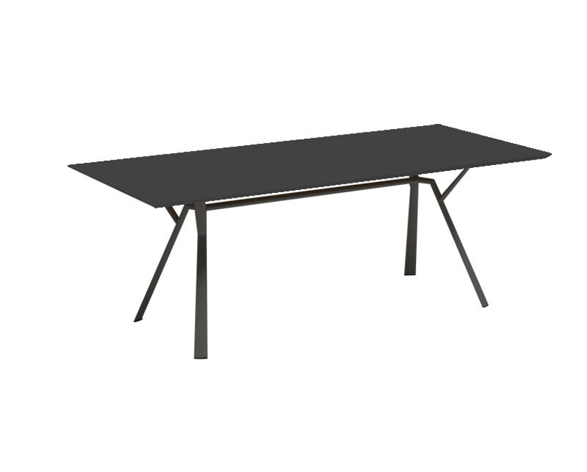 Fast - Radice Quadra Tisch - rechteckig - 150 x 90 - grau-metallic - 6