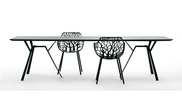 Fast - Radice Quadra Tisch - rechteckig - 150 x 90 - grau-metallic - 9