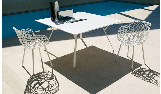 Fast - Radice Quadra Tisch - rechteckig - 150 x 90 - grau-metallic - 10