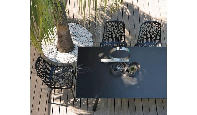 Fast - Radice Quadra tafel - rechthoekig - lichtgrijs - 200 x 90 cm - 10