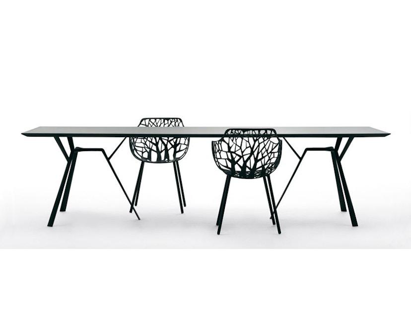 Fast - Radice Quadra tafel - rechthoekig - lichtgrijs - 200 x 90 cm - 11