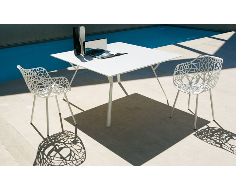 Fast - Radice Quadra tafel - rechthoekig - lichtgrijs - 200 x 90 cm - 12