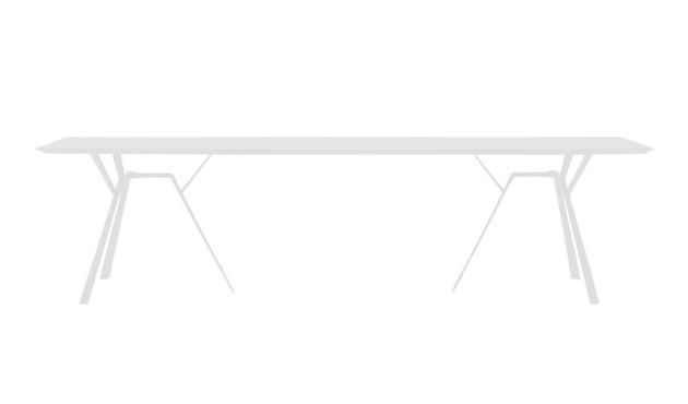 Fast - Radice Quadra Tisch - rechteckig - 290 x 90 - weiß - 6