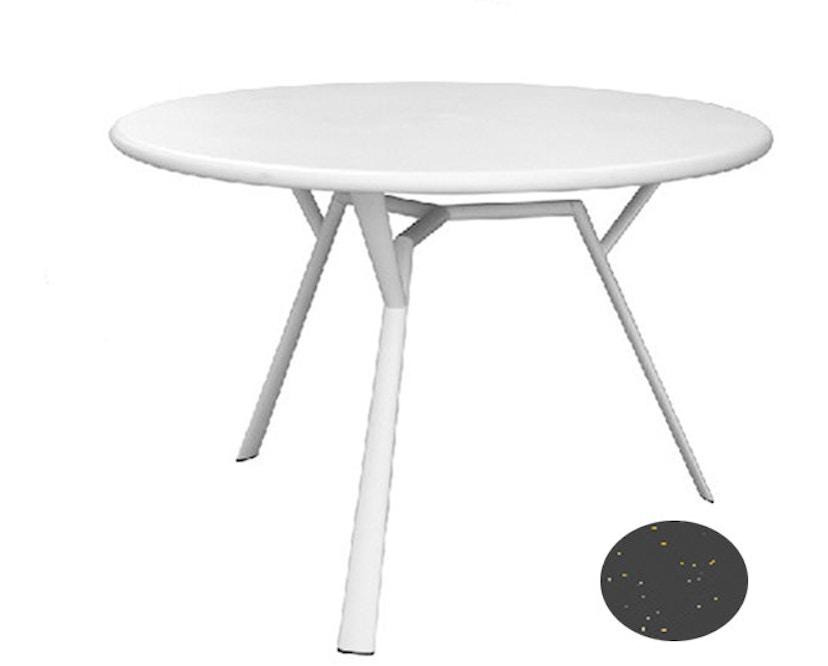 Fast - Table ronde Radice Quadra - gris métallique - 3