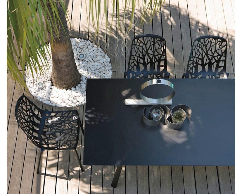 Fast - Table ronde Radice Quadra - gris métallique - 7