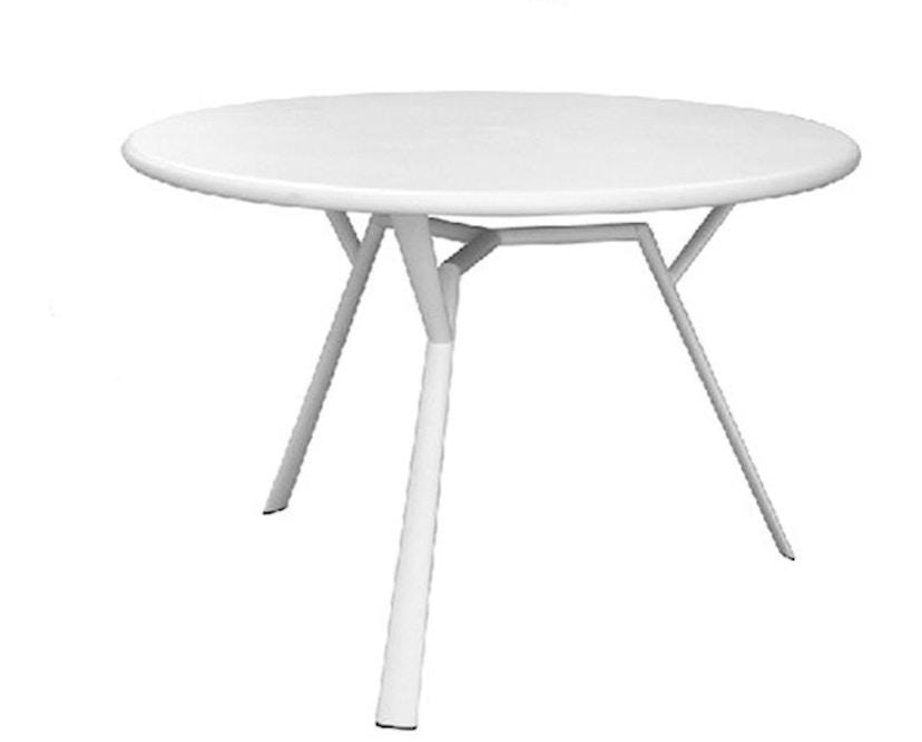 Fast - Radice Quadra Tisch - rund - weiß - 1