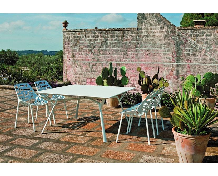 Fast - Radice Quadra Tisch - rund - weiß - 4