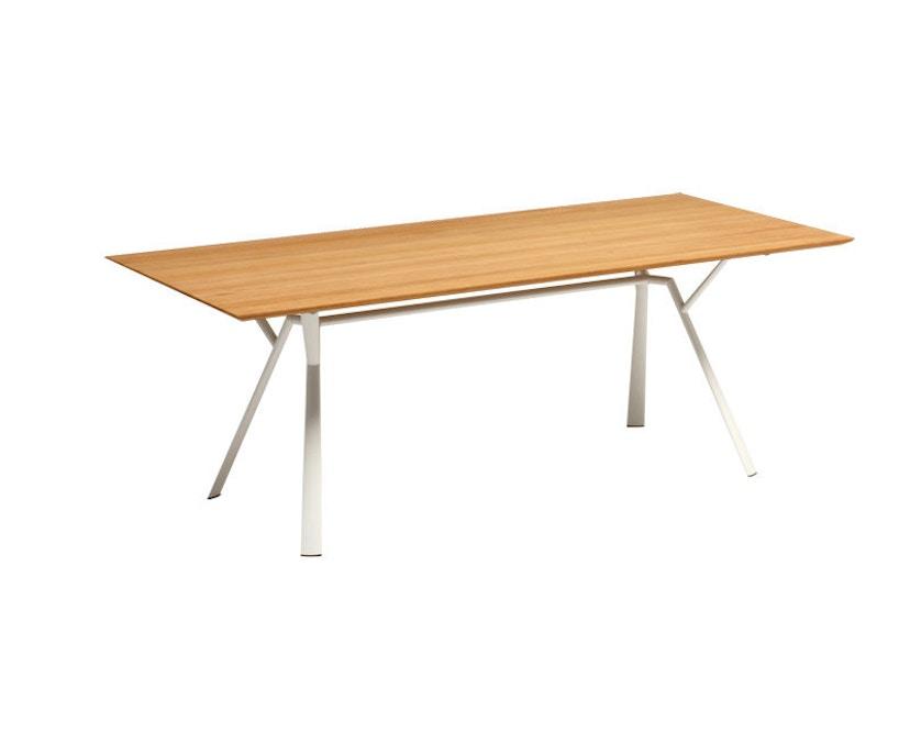 Fast - Radice Quadra tafel - teak - wit - 200 x 90 cm - 1