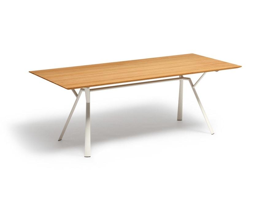 Fast - Radice Quadra tafel - teak - wit - 200 x 90 cm - 3