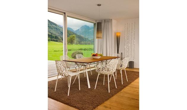 Fast - Radice Quadra tafel - teak - wit - 200 x 90 cm - 5