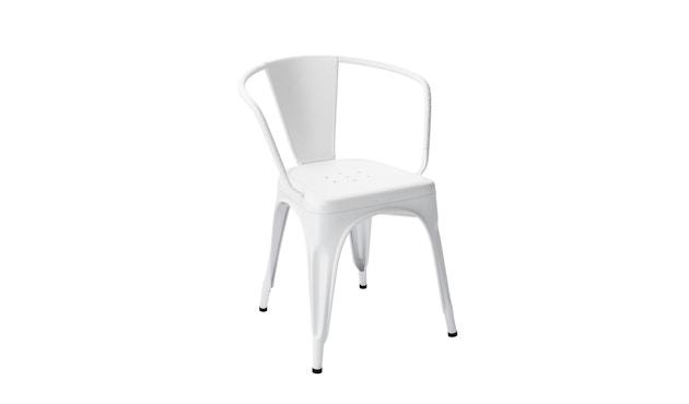 Tolix - A56 Armlehnstuhl - indoor - weiß matt - Produktauslauf 2017 - 6