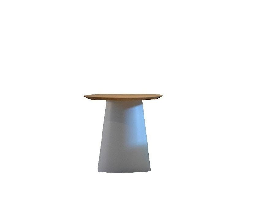 Jan Kurtz - Feel Wood Beistelltisch - weiß/Eiche - Ø 50 cm - 1