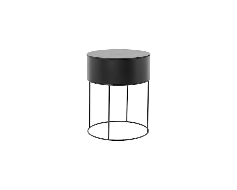 ferm LIVING - Plant Box Zylinder - schwarz - 3