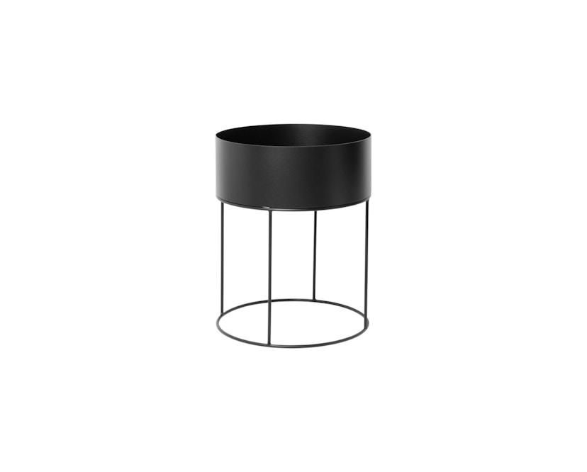 ferm LIVING - Plant Box cilinder - zwart - 2