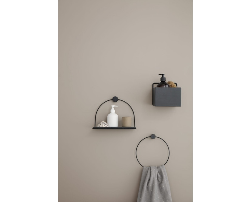 ferm LIVING - Wall Box - quadrat - hellgrau - 3