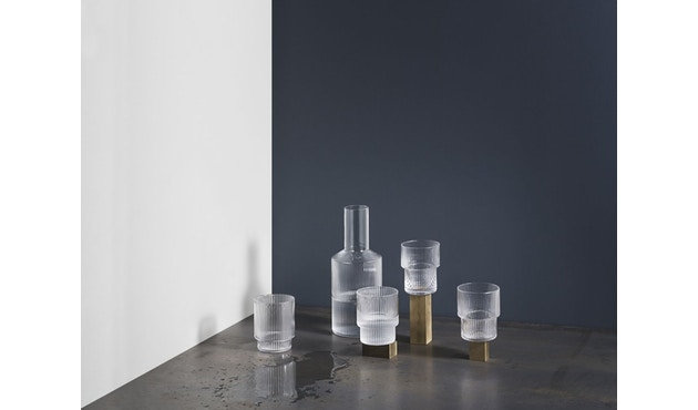 ferm LIVING - Ripple Gläser (4er-Set) - transparent - 12