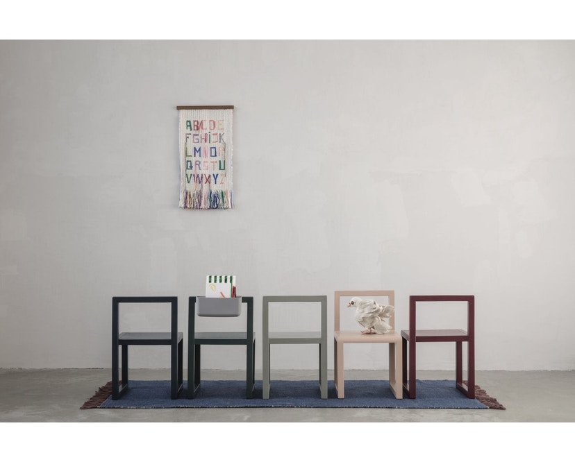 ferm LIVING - Little Architect Stuhl - dunkelblau - 3