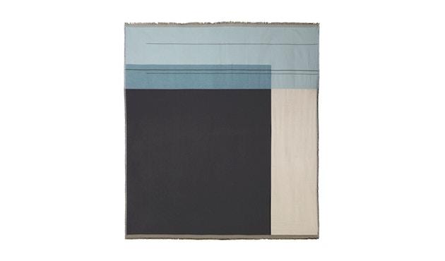 ferm LIVING - Colour Block Bettüberwurf - graublau - 1